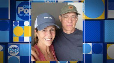 Tom Hanks and Rita Wilson return to the US after Australia quarantine