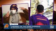 Phoenix Suns fan cheers on team from Mongolia