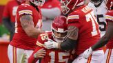 Chiefs' Mahomes in concussion protocol after playoff win