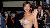 Irina Shayk dismisses question about Kanye West