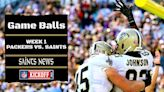 Game Balls from the Saints 38-3 Thrashing of the Packers