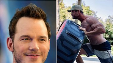 Chris Pratt begs Chris Hemsworth to gain '25lbs' before starring together in Thor after actor shares impressive workout photo