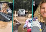 Elsa Pataky Rescued From Car After Getting Trapped On Flooded Road