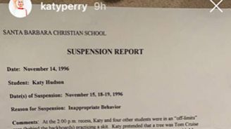 IDK How to Tell You This, But Katy Perry Was Suspended from School for Humping a Tree
