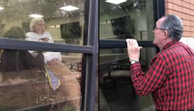Grandpa Sings Special Song To Quarantined Wife From Nursing Home Window