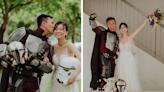 新加坡男自製曼達洛人戰袍 超狂婚紗照讓星戰鐵粉跪了