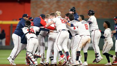 Braves take first game of NLCS rematch with 3-2 home victory against Dodgers