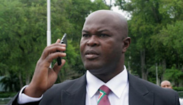 Suriname's vice-president, 60, plays international football match