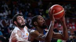 杜蘭特率美國男籃擊敗西班牙 東奧闖進4強