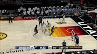 Darnell Cowart with an assist vs the Utah Jazz White