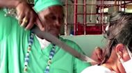 Cuban 'healer' performs surgeries with a machete