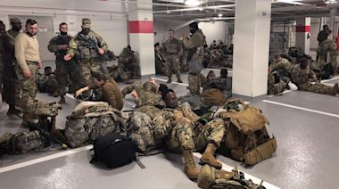Lawmakers outraged at images of National Guard sent from Capitol to parking garages