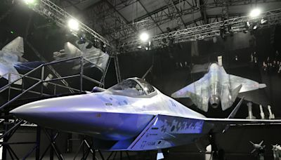 Russia unveiled its new 'Checkmate' fighter jet as Putin heaped praise on the country's aviation industry