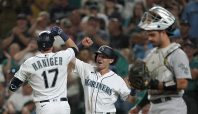 Mariners win on another wild pitch again against A's