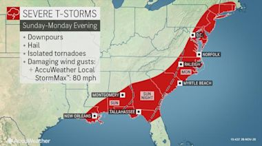 Severe weather to rip across South, East Coast as powerful storm unfolds