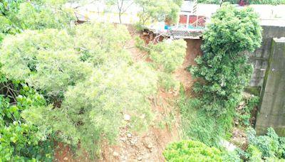 豪雨沖塌潭子區道路邊坡 立委爭取1260萬元復建 - 工商時報