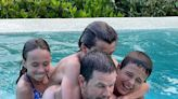 Mark Wahlberg Shares Rare Photo of His Kids Trying to Dunk Him in Pool: 'They Never Got Me Under'