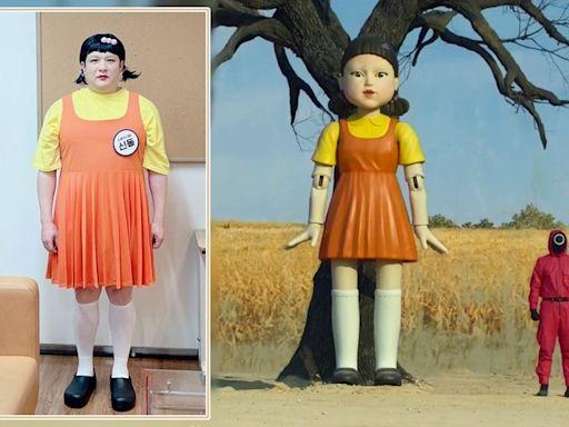 SJ神童神還原《魷魚遊戲》娃娃Look邀隊友希澈參加遊戲