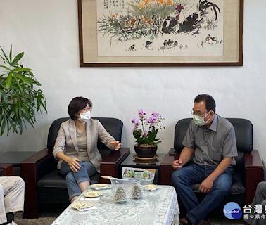 饒慶鈴拜訪台東區農業改良場 盼攜手合作降低外銷風險