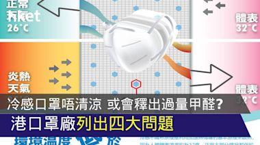 【唔好貪涼快?】冷感口罩其實唔清涼 或會釋出過量甲醛? 港口罩廠列出四大問題 - 香港經濟日報 - 中小企 - 業界頭條