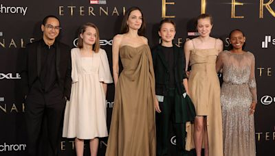Angelina Jolie Brings Kids Maddox, Zahara, Shiloh, Vivienne and Knox to Eternals Premiere