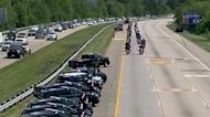 Maryland Police Line Road as Body of Officer Killed on Duty Escorted to Home State