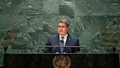 Honduras' president at U.N. denies ties to drug trafficking