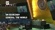UN secretary general says 'the world must wake up'