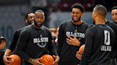Is LeBron James sporting a Trail Blazers 'Rip City' shirt?