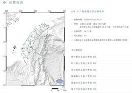 很晃!南投竹山凌晨03:34規模4.6地震 網驚「玻璃整個卡啦卡啦」