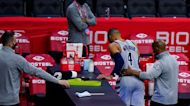 Wells Fargo Center, LeBron James react after fan throws popcorn