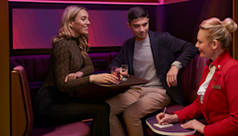 Welcome to 'The Booth,' Virgin Atlantic's New In-Flight Lounge Space