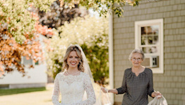 Bride Wears Her Grandmother's Wedding Dress from 1961 That Was Kept in an 'Old Bag' in Basement