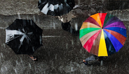 Why does some rain fall harder than other rain?