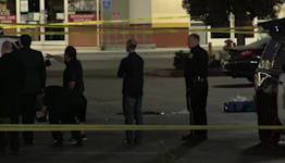 MILPITAS GUNFIRE: Raw scene video of Milpitas police gathering evidence of gun battle with suspect