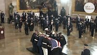 President Joe Biden gives powerful tribute, pays respects to slain Capitol police officer