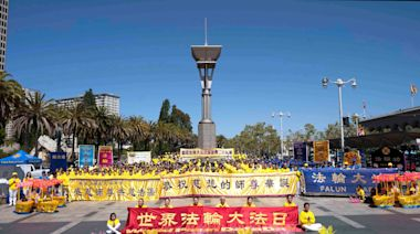 三藩市學員遊行歡慶「世界法輪大法日」