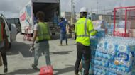 Relief Supplies For Haiti Packed Up At Port Everglades
