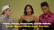 Watch Kristen Stewart, Naomi Scott, and Ella Balinska Hilariously Quiz Each Other on Charlie's Angels