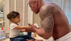 Dwayne Johnson Sings 'Moana' Song To His Daughter As They Wash Hands