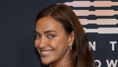 Irina Shayk Makes Overalls Cool Again for Savage x Fenty Show Red Carpet