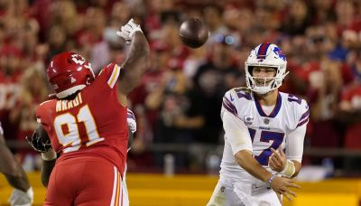 The Latest: Bills-Chiefs return from halftime weather delay