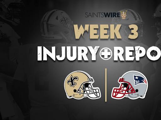 Payton Turner limited, Tanoh Kpassagnon full on initial Saints injury report vs. Patriots