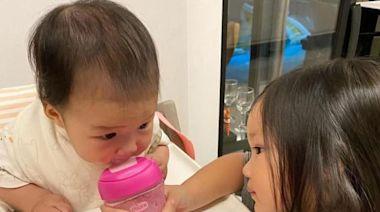 李亞男曬女兒正臉照,大眼睛十分可愛討喜,網友:王祖藍基因強大