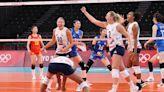 中國女排在奧運分組賽不敵美國隊 錄得兩連敗