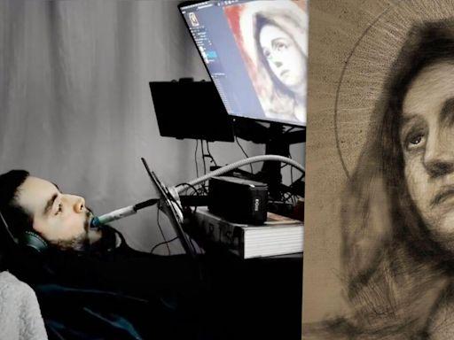 勵志 加州29歲男四肢癱瘓 學會用嘴畫畫