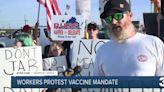 Newport News Shipyard employees protest vaccine mandate