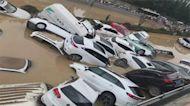 影/鄭州5公里隧道淹滿!百輛車宛如「汽車墳場」