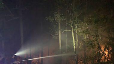 惠蓀林場野火延燒10公頃 持續休園