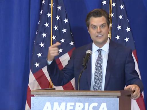'I'm a marked man in Congress': Matt Gaetz boasts about scandal as he kicks off pro-Trump tour